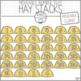 Hay Stack Number Tiles (Moveable Clipart) by Bunny On A Cloud