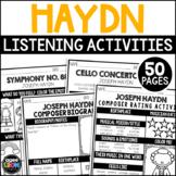Joseph Haydn Composer Listening Activities, March