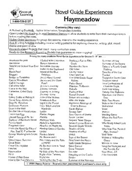 Haymeadow Literature Guide