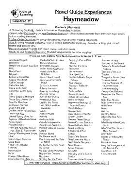 Haymeadow Literature Guide
