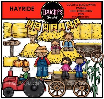Hayride Clip Art Bundle {Educlips Clipart}