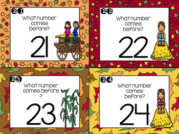 Hayride Task Cards: Numbers Before and After 1-30