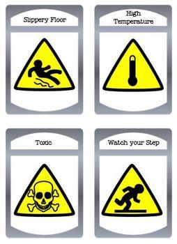 Hazard Signs and Symbols Bundle