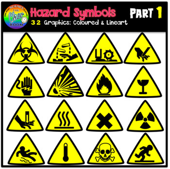 Hazard Symbols Clipart Part 1 By The Cher Room Tpt