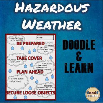 Hazardous Weather Doodle Notes