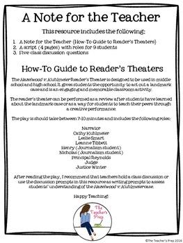 Hazelwood v Kuhlmeier Reader's Theater