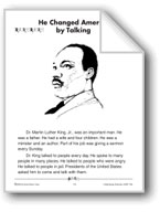 He Changed America by Talking (Martin Luther King, Jr.)