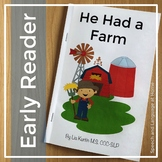 He Had A Farm - Easy Readers for AAC Core Words