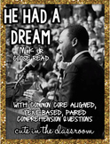 He Had a Dream - Martin Luther King Jr. Nonfiction Reading Comprehension