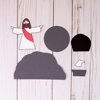 He Is Risen Craft - Easter Religious Craft Activity- Easter Sunday School Lesson