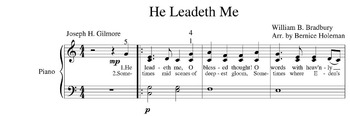 """He Leadeth Me"" Hymn For The Elementary Level Piano Student"