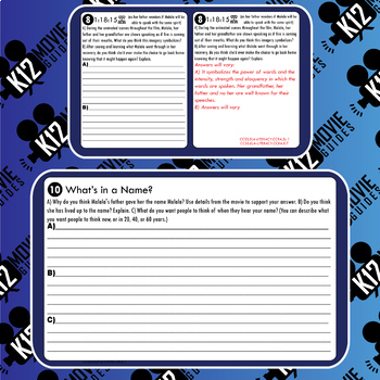 He Named Me Malala Movie Guide   Questions   Worksheet (PG13 - 2015)