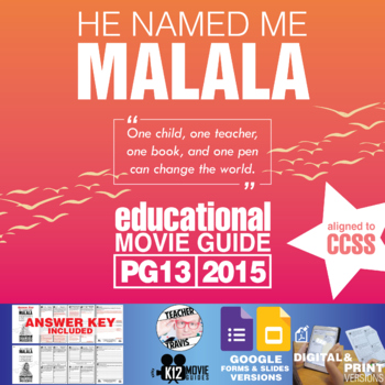 He Named Me Malala Movie Guide | Questions | Worksheet | Google (PG13 - 2015)