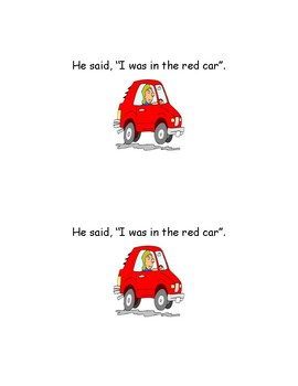 He Said, She Said - Sight Word Reader - Emergent Reader- Guided Reading- Fluency
