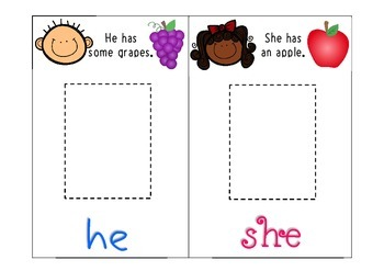 He, She, Him, Her Pronoun Activity for Grammar and Language Comprehension