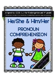 He, She, Him, Her Pronoun Activity for Grammar and Languag