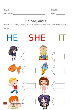 He She Worksheet Teachers Pay Teachers This regular pronouns worksheet directs the student to read each sentence. he she worksheet teachers pay teachers
