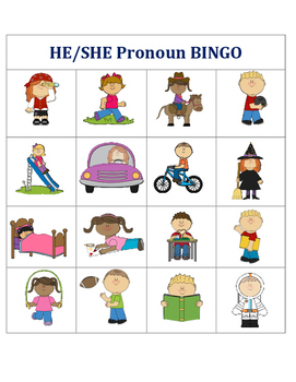 He/She Pronoun Bingo