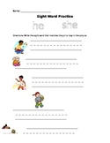 He She Sight Word Page