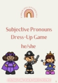 He/She Subjective Pronouns Dress-Up Game - Speech Therapy -Paper Dolls-Clothing