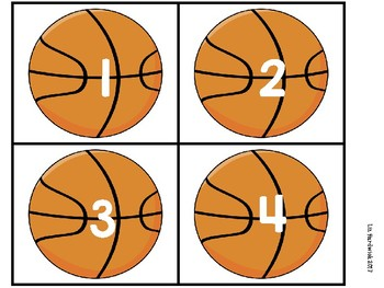 Basketball He Shoots, He Scores Math Centers