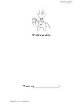 """He, Was, A, My, The"" Sight Word Book"