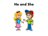 He and She pronoun activity