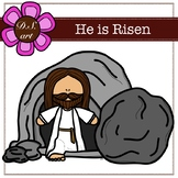 He is Risen Digital Clipart (color and black&white)
