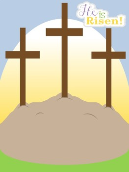 He is Risen- Easter Craft- Cross Craft