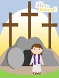 He is Risen- Easter Craft- Cross Craft