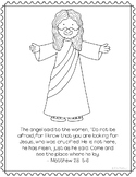 He is Risen, Jesus is Alive Coloring Page Craft or Poster,