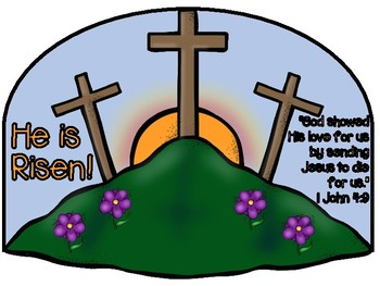 He is Risen craft and color sheet
