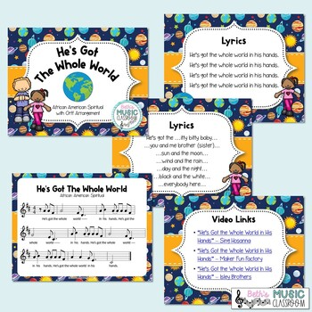 He's Got the Whole World - African American Spiritual with Orff Arrangement