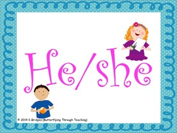 He/She Flashcards activity