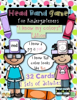 Head Band Color Sight Words Game for Kindergarteners