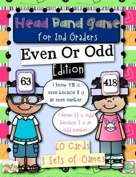 Head Band Even or Odd Game for 2nd Graders