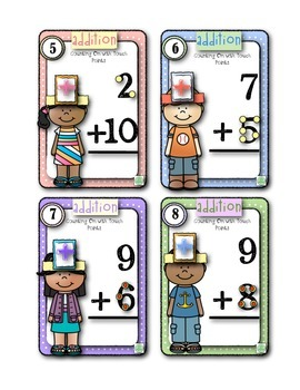 Head Band Adding Within 20 Games for 2nd Graders and Firsties