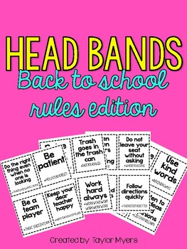 Head Bands Back To School Rules