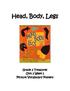 Head, Body, Legs Picture Vocabulary Posters Grade 2 Treasures