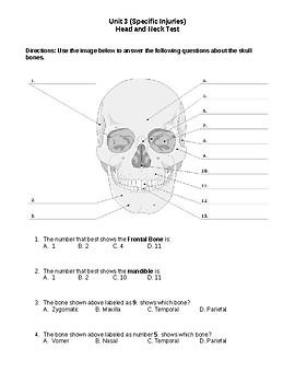 Head Injuries Unit Test Sports Medicine