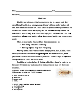 Head Lice Article