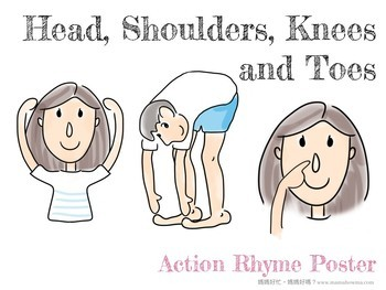 Head, Shoulders, Knees and Toes Action Rhyme Poster