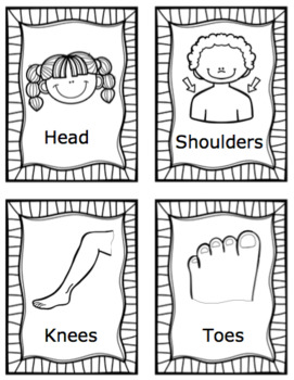 Head, Shoulders, Knees and Toes: ESL Vocab, Flashcards, Worksheets