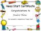 Head Start Diploma Editable