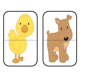 Head To Toe Animal Match ~ Funny Farm Puzzles