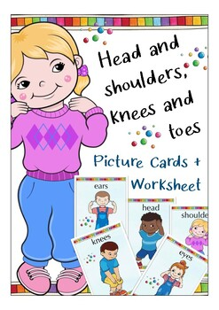 Head and shoulders, knees and toes English song for primary kids  body parts