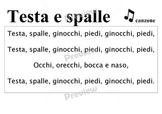 Head and shoulders song in Italian