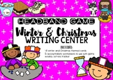 Winter and Christmas Headbands Game Writing Center
