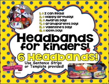 Headbands ~ Crowns for Special Days! Birthday, 100 Day, Awards Day and More!