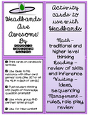 Headbands Are Awesome -- Traditional Review and Deeper Thinking Cards